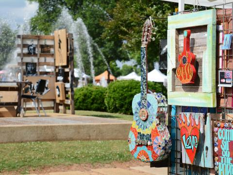 Colorful and creative artwork on display at Arts Alive in Florence