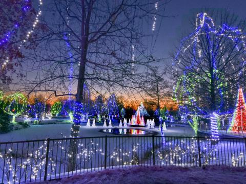 Wildlights display at the Columbus Zoo and Aquarium in Ohio