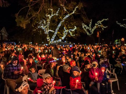 Light the Downtown holiday event in Paso Robles, California